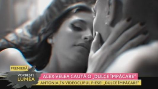 "Alex Velea cauta ""o dulce impacare"""