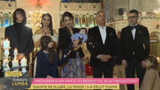 Anca Serea si Adi Sina si-au botezat cel de-al treilea copil