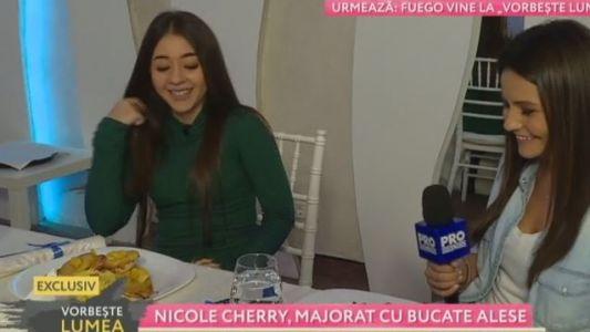 Nicole Cherry, majorat cu bucate alese