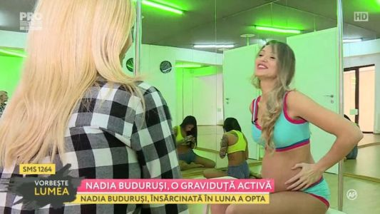 Nadia Budurusi, o graviduta activa