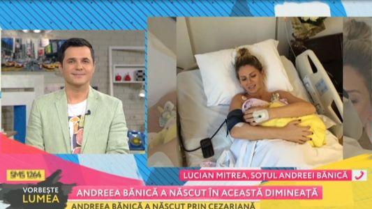 Andreea Banica a nascut un baietel