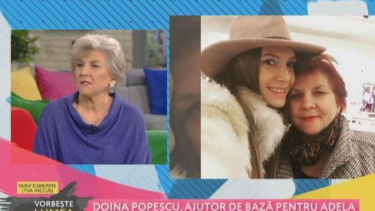 Doina Popescu, ajutor de baza pentru Adela