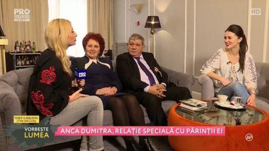 Anca Dumitra, relatie speciala cu parintii