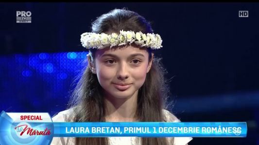 Laura Bretan, primul 1 Decembrie in Romania