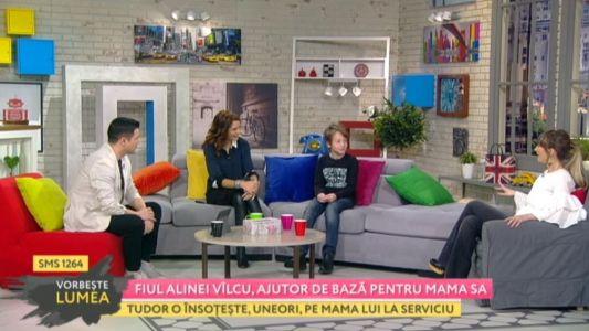 Fiul Alinei Valcu, ajutor de baza pentru mama sa