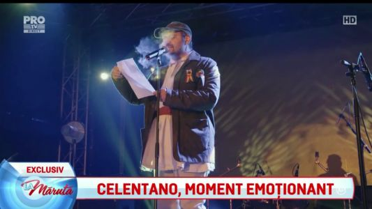 Celentano, moment emotionant