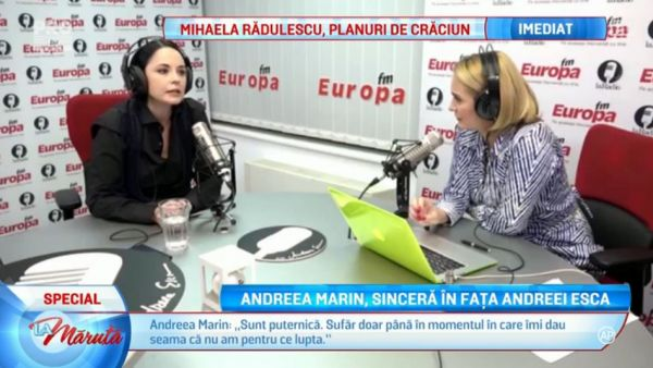 Andreea Marin, sincera in fata Andreei Esca