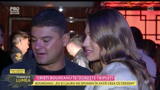 Cristian Boureanu isi doreste tripleti