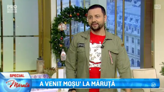 Catalin Maruta a primit cadoul de la Mos Nicolae in direct