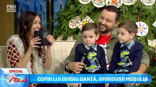 Copiii lui Ovidiu Oanta, spiridusii lui Mos Craciun