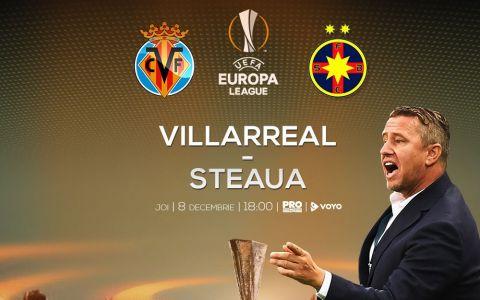 Steaua joaca cu Villarreal finala pentru primavara europeana, joi, de la ora 18:00, la Pro TV!