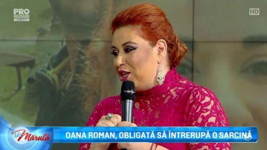 Oana Roman, obligata sa intrerupa o sarcina
