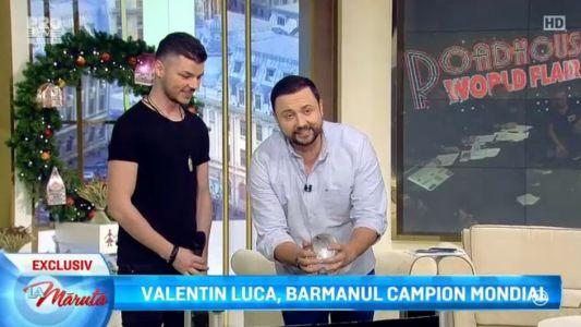 Valentin Luca, barmanul campion mondial