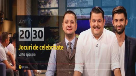Jocuri de celebritate, editie speciala, 26 decembrie, de la 20:30, la Pro TV
