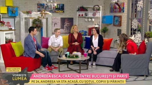 Andreea Esca, Craciun intre Paris si Bucuresti