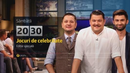 Jocuri de celebritate, editie speciala de Revelion, de la 20:30, la Pro TV