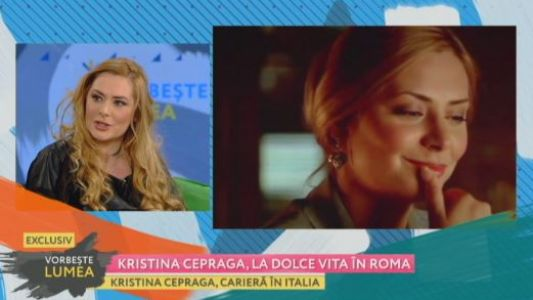 Kristina Cepraga, la dolce vita in Roma