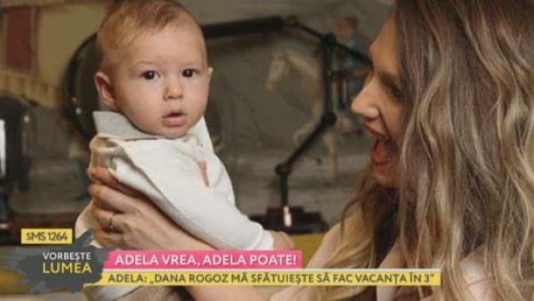 Dilema Adelei: vacanta in doi sau cu bebelusul?