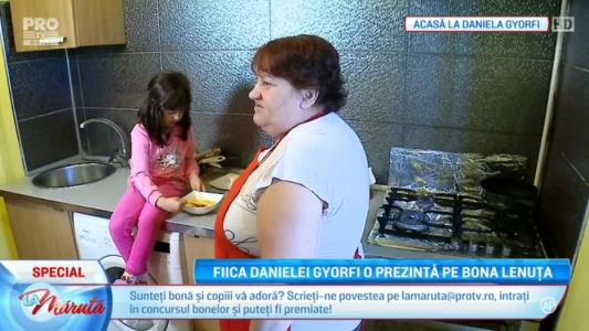 Fiica Danielei Gyorfi o prezinta pe bona Lenuta
