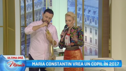 Maria Constantin vrea un copil in 2017