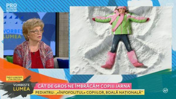 Ana Culcer, medic pediatru: Cat de gros ne imbracam copiii iarna