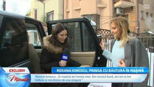 Roxana Ionescu, prinsa cu bautura in masina
