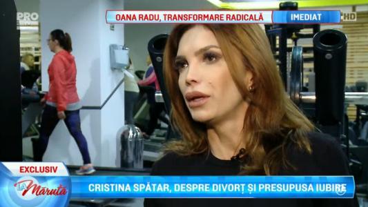 Cristina Spatar, despre divort si presupusa iubire