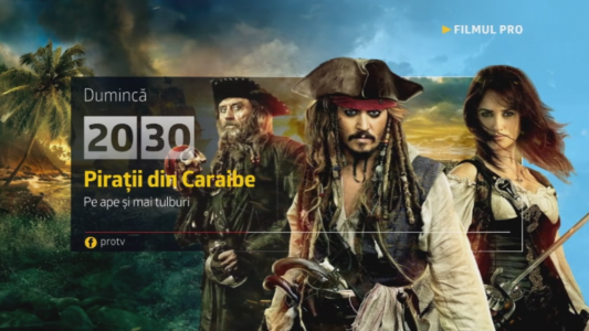 Piratii din Caraibe: Pe ape si mai tulburi , duminica, 29 ianuarie, de la 20:30, la ProTV