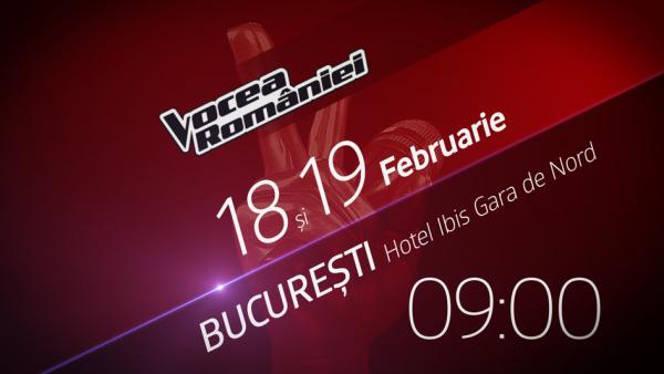Incep preselectiile pentru sezonul sapte Vocea Romaniei! Pe 18 si 19 februarie doar vocea conteaza la Bucuresti!