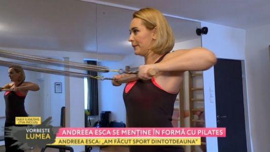 Andreea Esca se mentine in forma cu pilates