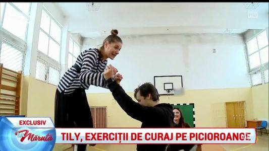 Tily, exercitii de curaj pe picioroange