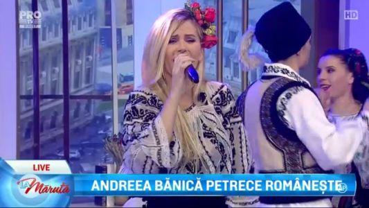 Andreea Banica petrece romaneste