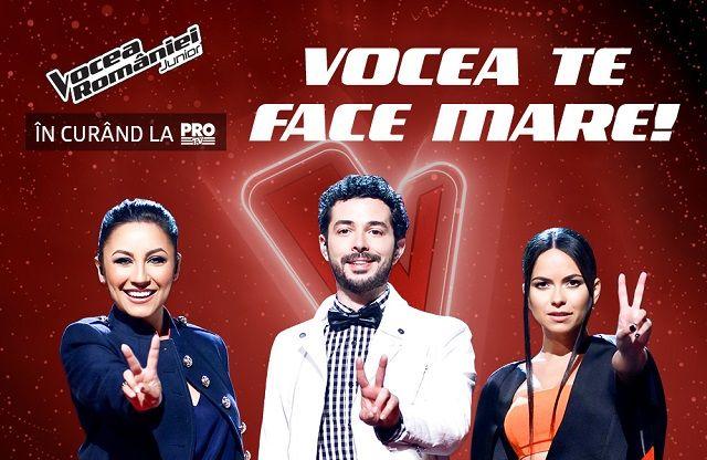 Vocea te face mare! Vocea Romaniei Junior, in curand, la Pro TV