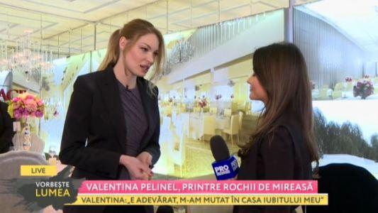 Valentina Pelinel, printre rochii de mireasa