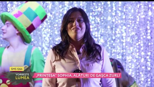 """""""Printesa"""" Sophia, alaturi de gasca Zurli"""