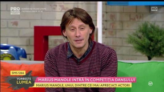 """Marius Manole intra in competitia dansului: """"Am emotii si asta e bine!"""""""