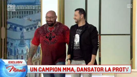 Un campion MMA, dansator la Pro TV