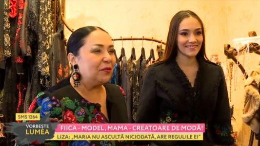 Fiica - model, mama - creatoare de moda