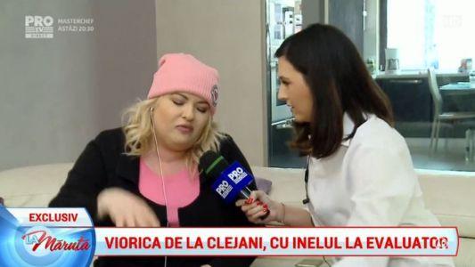 Viorica de la Clejani, cu inelul la evaluator