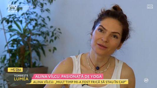 Alina Vilcu, pasionata de yoga