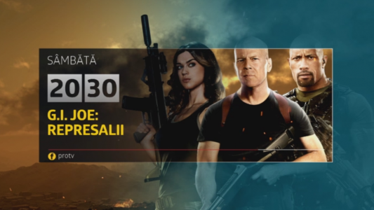Sambata, 4 martie, G.I. Joe: Represalii , de la 20:30, la Pro TV