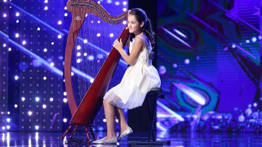 """Romanii au talent 2017: Daria Vacaroiu - Interpreteaza la harpa piesa """"Thousand Years"""""""