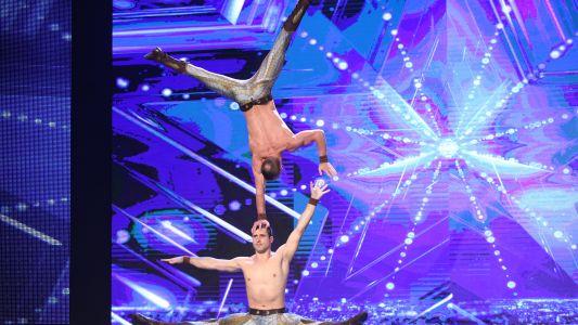 Romanii au talent 2017: Duo Vladimir - Balance cu cutite