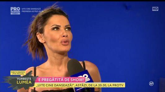 Oana Zavoranu, la repetitii pentru show-ul Uite cine danseaza!