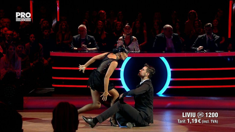 Liviu Teodorescu si Marica Derdene, intr-o coregrafie demna de James Bond pe ringul Uite cine danseaza!
