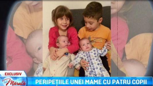 Peripetiile unei mame cu patru copii