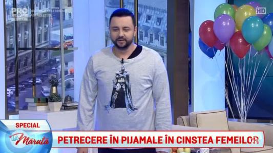 Catalin Maruta, in pijamale la emisiune