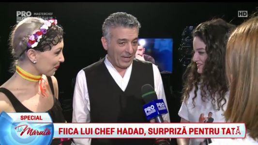 Fiica lui Chef Hadad, surpriza pentru tata