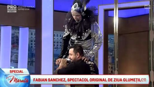 Fabian Sanchez, spectacol original de ziua glumetilor