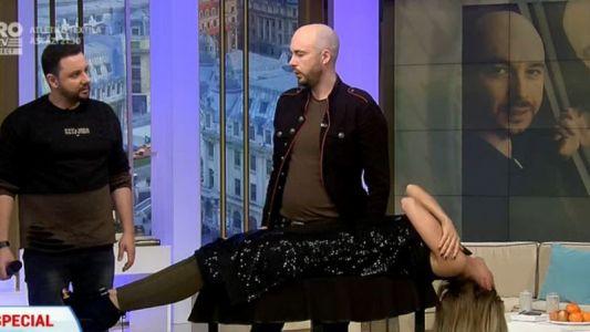 Johannes o face pe Miss Romania sa leviteze